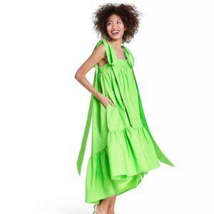 Tie Strap High-Low Babydoll Dress